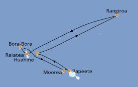 Itinerario de crucero Polinesia 11 días a bordo del Pacific Princess