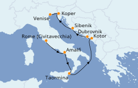 Itinerario de crucero Mediterráneo 10 días a bordo del Azamara Quest
