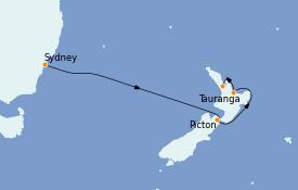 Itinerario de crucero Australia 2023 8 días a bordo del Majestic Princess