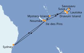 Itinerario de crucero Australia 2021 15 días a bordo del Sea Princess