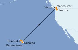 Itinerario de crucero Hawaii 13 días a bordo del Ovation of the Seas