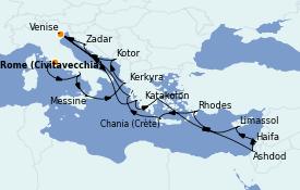Itinerario de crucero Grecia y Adriático 20 días a bordo del ms Oosterdam