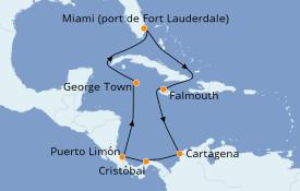 Itinerario de crucero Caribe del Oeste 11 días a bordo del Crown Princess