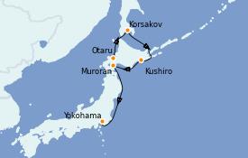 Itinerario de crucero Asia 7 días a bordo del