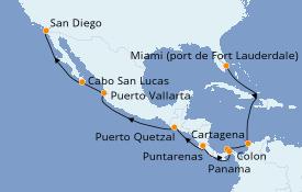 Itinerario de crucero Riviera Mexicana 16 días a bordo del Celebrity Millenium