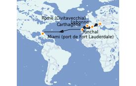 Itinerario de crucero Trasatlántico y Grande Viaje 2021 15 días a bordo del Odyssey of the Seas