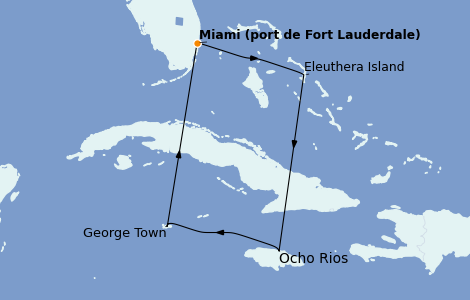 Itinerario del crucero Caribe del Oeste 6 días a bordo del Caribbean Princess