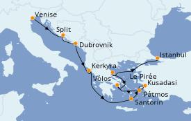 Itinerario de crucero Grecia y Adriático 10 días a bordo del Norwegian Spirit