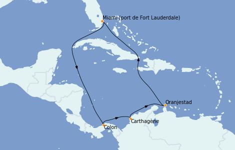 Itinerario del crucero Caribe del Este 9 días a bordo del Vision of the Seas