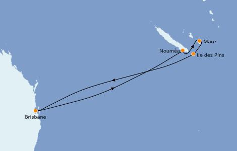 Itinerario del crucero Australia 2022 7 días a bordo del Carnival Splendor