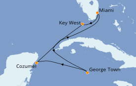Itinerario de crucero Caribe del Oeste 7 días a bordo del Jewel of the Seas