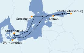 Itinerario de crucero Mar Báltico 8 días a bordo del MSC Poesia