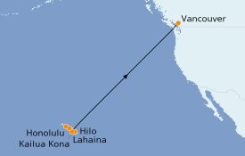 Itinerario de crucero Hawaii 11 días a bordo del Celebrity Eclipse