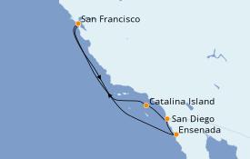 Itinerario de crucero California 7 días a bordo del Carnival Miracle
