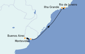 Itinerario de crucero Suramérica 8 días a bordo del Seabourn Venture