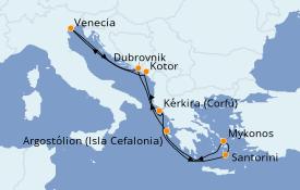 Itinerario de crucero Grecia y Adriático 8 días a bordo del Norwegian Dawn