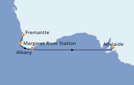 Itinerario de crucero Australia 2020 6 días a bordo del Sea Princess