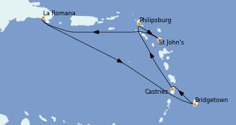 Itinerario de crucero Caribe del Este 8 días a bordo del Norwegian Gem