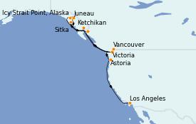 Itinerario de crucero Alaska 14 días a bordo del MS Regatta
