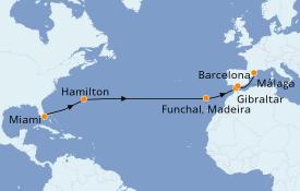 Itinerario de crucero Trasatlántico y Grande Viaje 2021 17 días a bordo del Azamara Quest