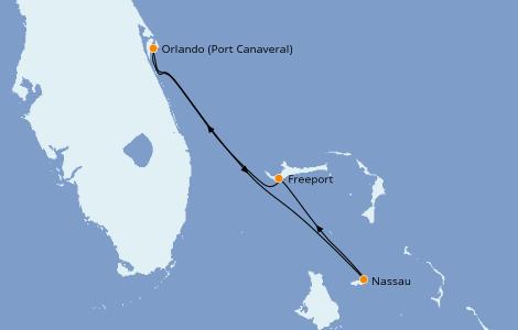 Itinerario del crucero Caribe del Este 4 días a bordo del Carnival Liberty