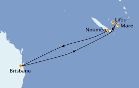 Itinerario de crucero Australia 2021 8 días a bordo del