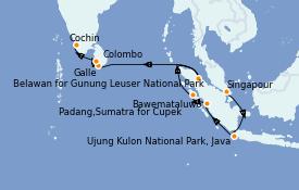 Itinerario de crucero Asia 17 días a bordo del Silver Cloud Expedition