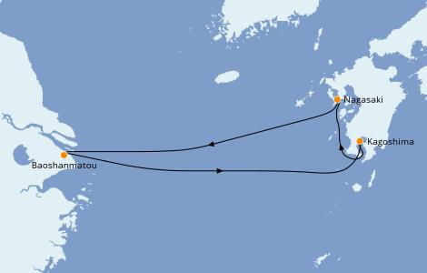 Itinerario del crucero Asia 5 días a bordo del Spectrum of the Seas