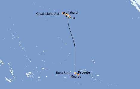 Itinerario del crucero Hawaii 12 días a bordo del Norwegian Spirit