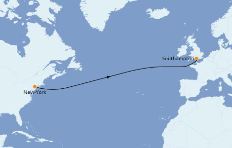 Itinerario del crucero Islas Británicas 8 días a bordo del Queen Mary 2