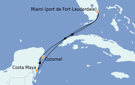 Itinerario de crucero Caribe del Oeste 6 días a bordo del Celebrity Edge