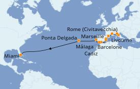 Itinerario de crucero Mediterráneo 17 días a bordo del Norwegian Pearl