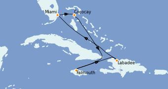 Itinerario de crucero Caribe del Oeste 7 días a bordo del Explorer of the Seas