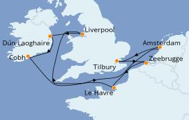 Itinerario de crucero Mar Báltico 10 días a bordo del Norwegian Jade
