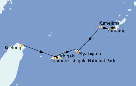 Itinerario de crucero Asia 8 días a bordo del Le Soléal