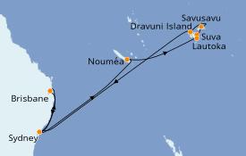 Itinerario de crucero Australia 2020 17 días a bordo del Sapphire Princess