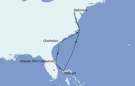 Itinerario del crucero Canadá 7 días a bordo del Enchantment of the Seas