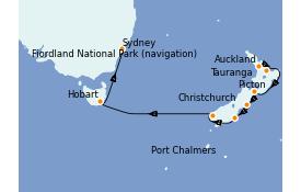 Itinerario de crucero Australia 2021 12 días a bordo del Royal Princess