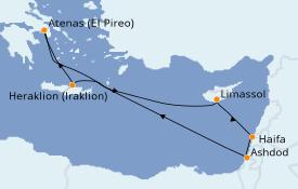 Itinerario de crucero Grecia y Adriático 10 días a bordo del Azamara Quest