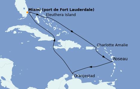 Itinerario del crucero Caribe del Este 10 días a bordo del Enchanted Princess