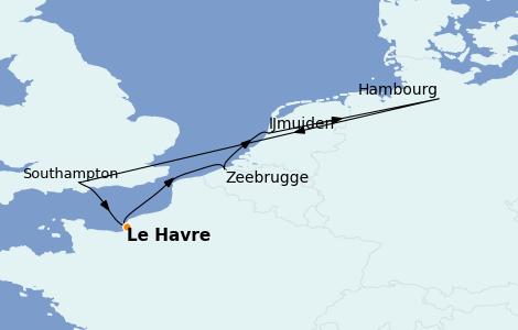 Itinerario del crucero Mar Báltico 7 días a bordo del MSC Magnifica
