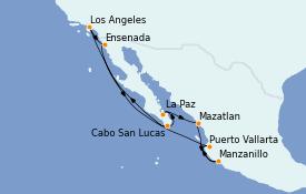 Itinerario de crucero Riviera Mexicana 11 días a bordo del MS Regatta