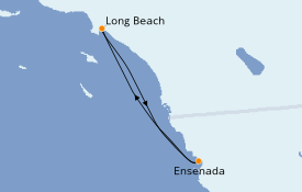 Itinerario de crucero California 4 días a bordo del Carnival Panorama