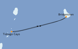 Itinerario de crucero Caribe del Este 7 días a bordo del Royal Clipper