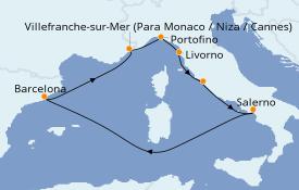 Itinerario de crucero Mediterráneo 8 días a bordo del Brilliance of the Seas