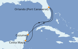 Itinerario de crucero Caribe del Oeste 6 días a bordo del Norwegian Escape