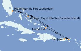 Itinerario de crucero Caribe del Este 8 días a bordo del ms Volendam