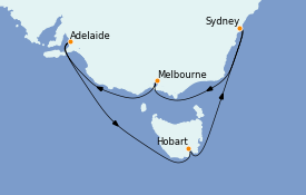 Itinerario de crucero Australia 2023 10 días a bordo del Celebrity Eclipse