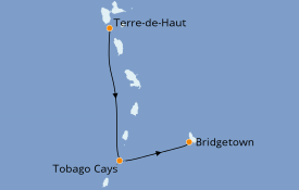 Itinerario de crucero Caribe del Este 8 días a bordo del Royal Clipper
