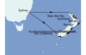 Itinerario de crucero Australia 2022 14 días a bordo del Emerald Princess